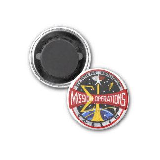 Manned Spacecraft Center's Mission Control 3 Cm Round Magnet