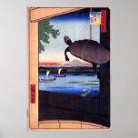 Mannen Bridge in Fukagawa Poster