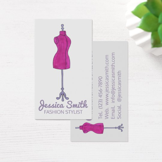 Mannequin Fashion Costume Design Designer Stylist Business Card