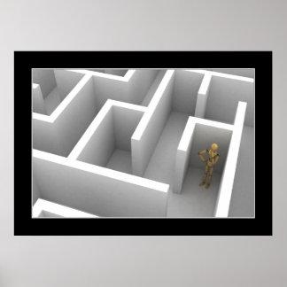 Mannequin stuck in maze - Poster