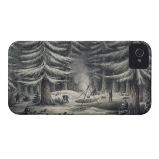Manner of Making a Resting Place on a Winter Night iPhone 4 Cover