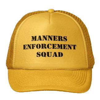 Manners Enforcement Squad Mesh Hat