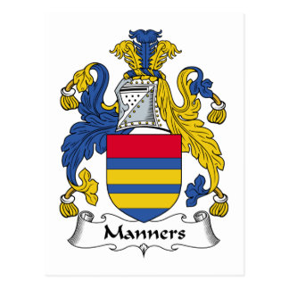 Manners Family Crest Postcard