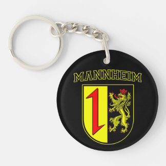 Mannheim Germany Wappen/Crest Double-Sided Round Acrylic Key Ring
