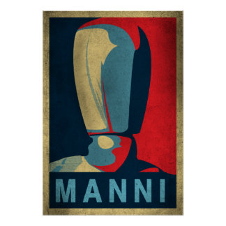 Manni the mannequin poster