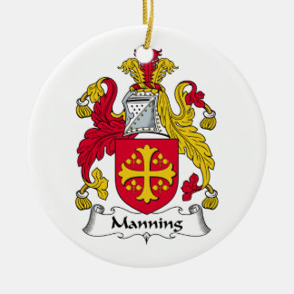 Manning Family Crest Christmas Ornament