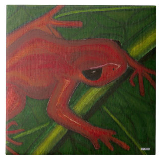 Manny The Mantella (Frog) Large Square Tile