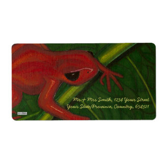 Manny The Mantella (Frog) Shipping Label