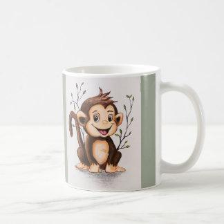 Manny the Monkey Basic White Mug