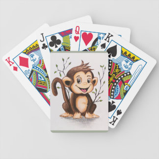 Manny the Monkey (Bicycle Brand) Bicycle Poker Deck
