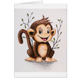 Manny the Monkey Greeting Card