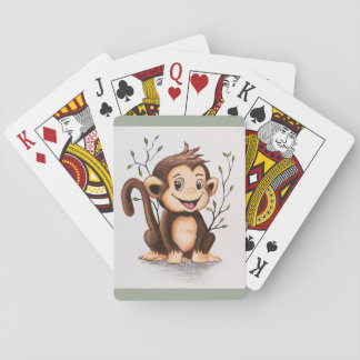 Manny the Monkey Playing Cards