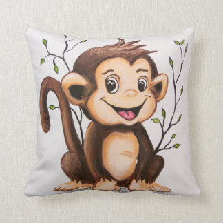Manny the Monkey Throw Cushions