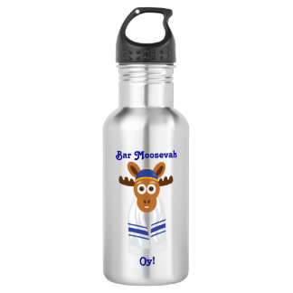 Manny The Moose Head_Bar Moosevah Oy!_personalized 532 Ml Water Bottle