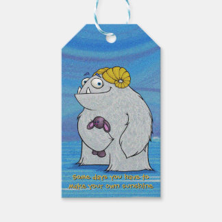 Manny the Yeti, gift tags