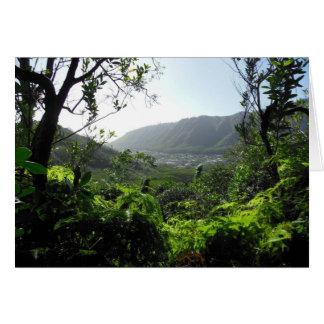 Manoa Valley, Hawaii Card