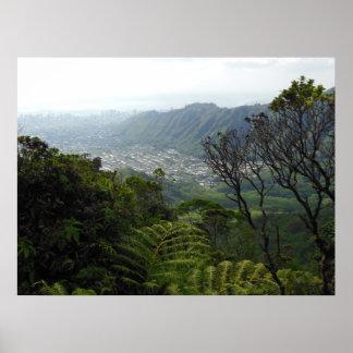 Manoa Valley to Waikiki Posters