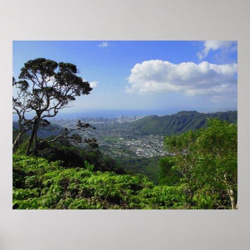 Manoa Valley to Waikiki Print