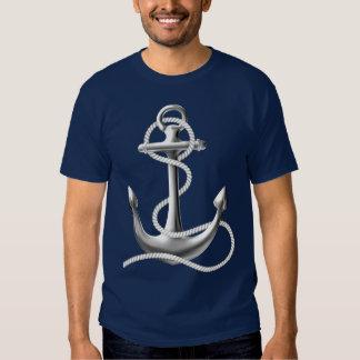 Man's anchor nautical t-shirt navy blue tee