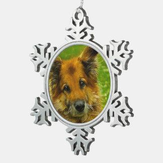 Man's Best Friend #2 Pewter Snowflake Decoration