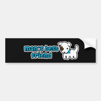 Man's best friend bumper sticker