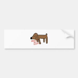 Mans Best Friend Bumper Sticker