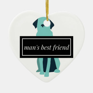 Man's Best Friend Dog Christmas Ornament