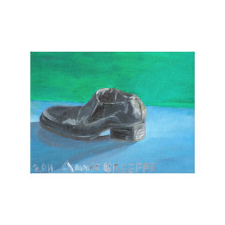 Man's Black Shoe Canvas Print