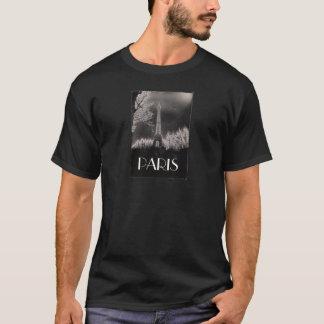 Man's black T-Shirt/Eiffel Tower T-Shirt