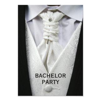 Mans Elegant Suit Bachelor Party 13 Cm X 18 Cm Invitation Card