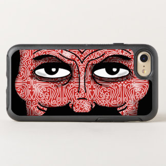 MAN'S EYES PATTERNED RED by Slipperywindow OtterBox Symmetry iPhone 8/7 Case