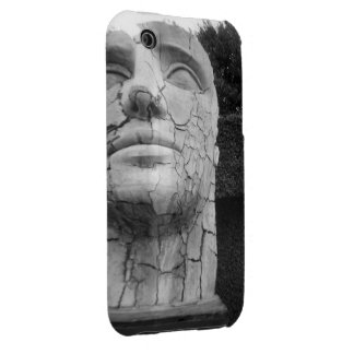 Man's Head Sculpture in Black and White Case-Mate iPhone 3 Cases