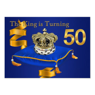 Mans King 50th Birthday Party Card