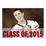 Man's Photo Graduation Announcement