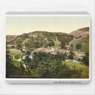 Mansal Dale from railway station, Derbyshire, Engl Mousepad