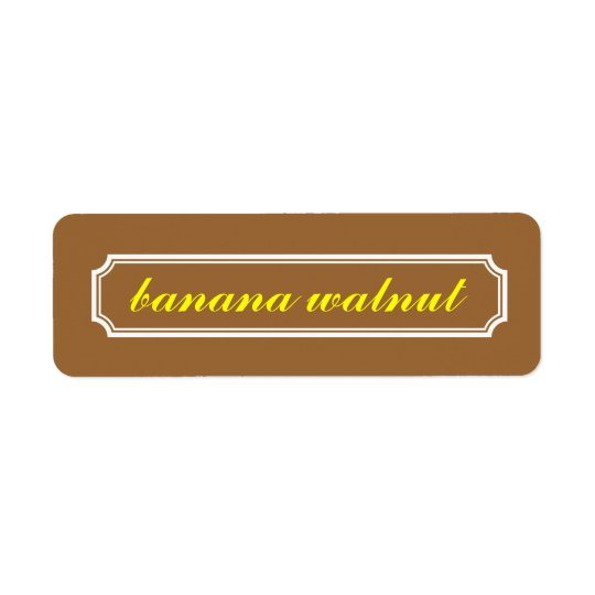 Mansard Border Flavour Label, Banana Walnut