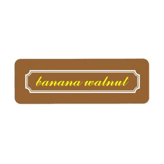 Mansard Border Flavour Label, Banana Walnut Return Address Label