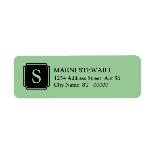 Mansard Initial Return Address Label, Jadeite