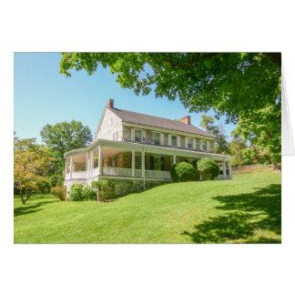 Mansion in summer card