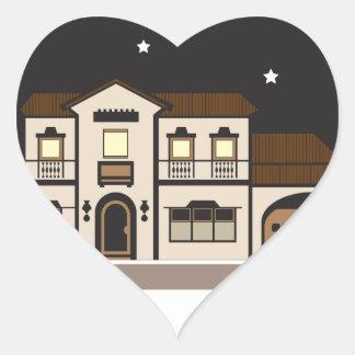 Mansion Night Heart Sticker