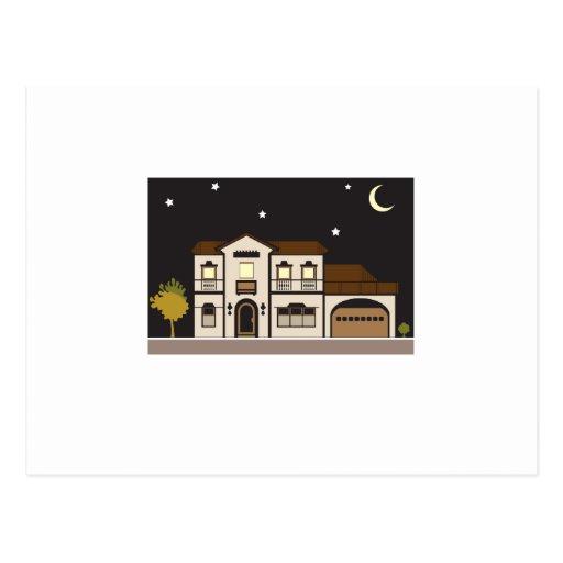 Mansion Night Postcards