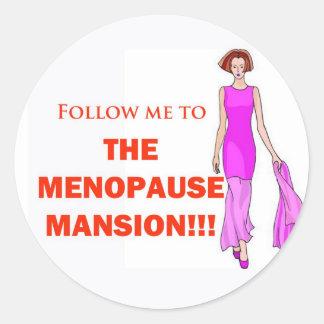 Mansion Round Sticker