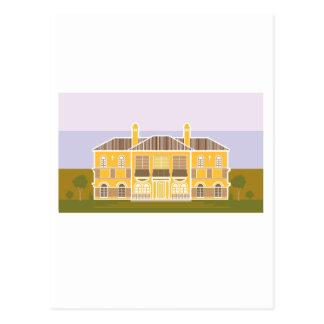 Mansion warm house postcard