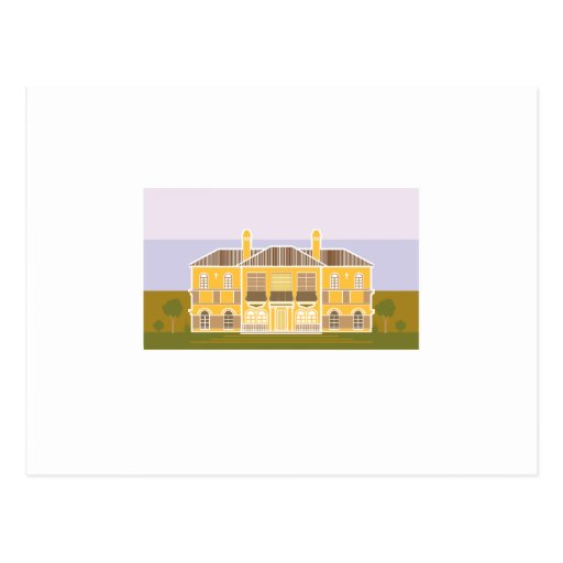 Mansion warm house post cards