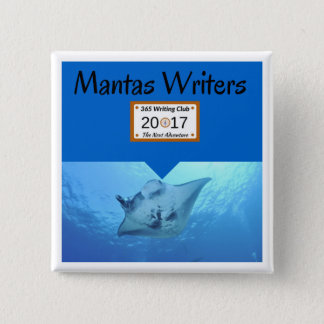 Manta pin! 15 cm square badge