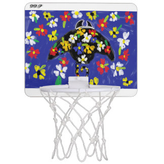 manta ray art mini basketball hoop