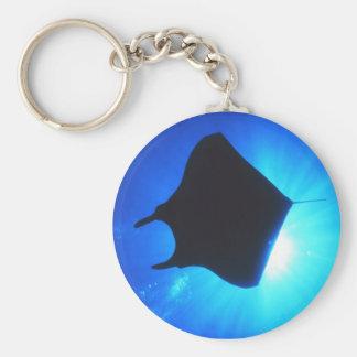 Manta Ray Silhouette Key Ring