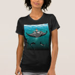 Manta Ray with mermaid Tshirts