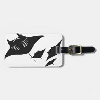 mantarochen manta ray scuba diving dip divers luggage tag