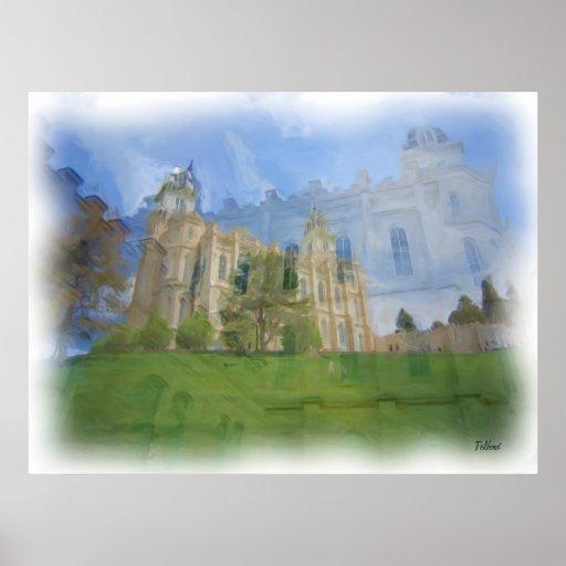 Manti Temple Painting Print